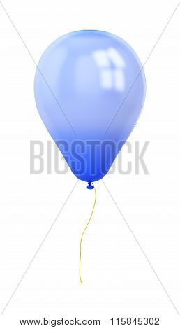 Festive Dark Blue Balloon Isolated On White