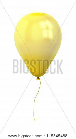 Festive Gold Balloon Isolated On White
