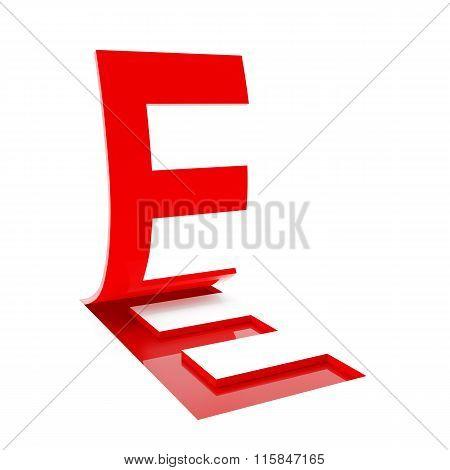Letter E, 3d render
