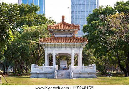 Sino-thai Friendship Pavilion In Lumpini Park, Bangkok, Thailand