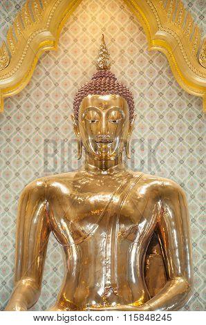 The Famous Golden Buddha At Wat Traimit, Bangkok