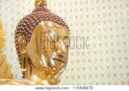 Closeup Of The Wat Traimit Golden Buddha, Bangkok