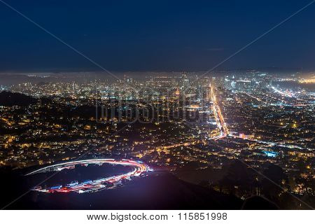 Twin Peaks And Downtown San Francisco