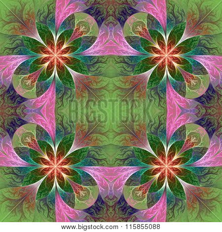 Beautiful Pattern In Fractal Design. Artwork For Creative Design, Art And Entertainment. You Can Use