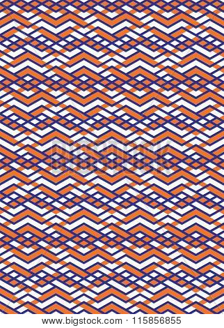 Bright Rhythmic Textured Endless Pattern, Stripy Continuous Creative Textile, Expressive Geometric