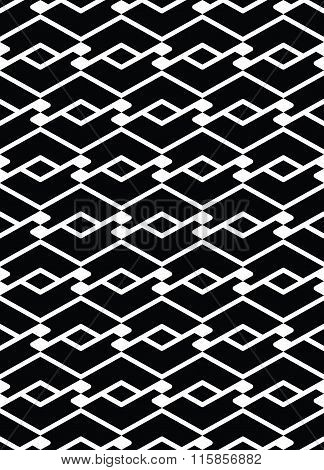 Monochrome Endless Vector Striped Texture, Motif Abstract Contemporary Geometric Background.