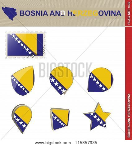 Bosnia And Herzegovina Flag Set, Flag Set #30