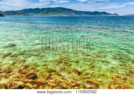 Idyllic Tropical Coast on Island near Nha Trang, Vietnam