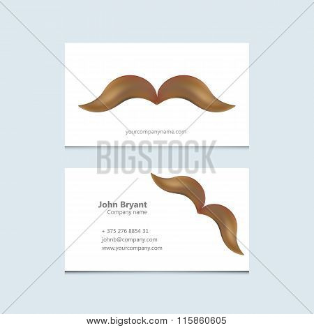 Abstract Creative concept vector image logo of mustache for web and mobile applications isolated on
