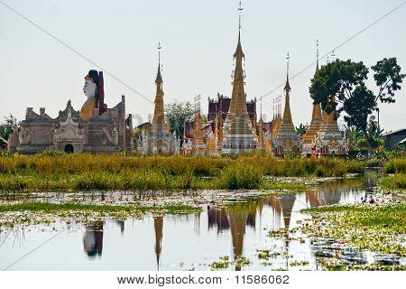 Buddhist Temple In Inle Lake,  Myanmar.