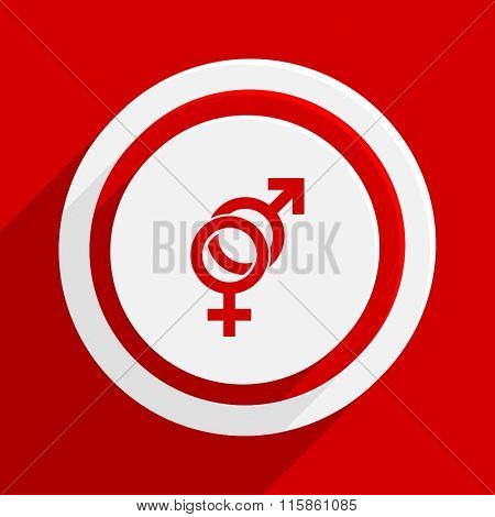 sex red vector flat icon