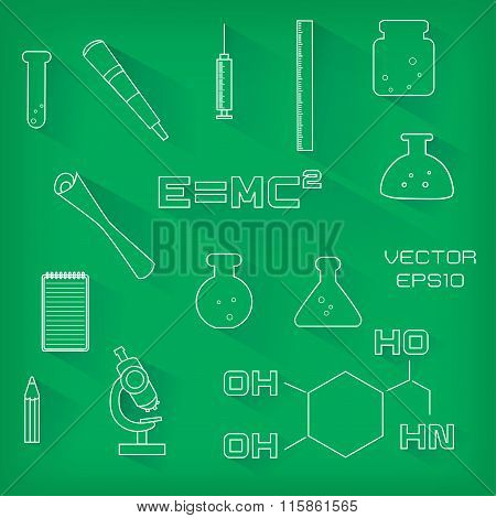 Set Of Scientific Icons