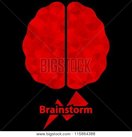 Brainstorm Concept. Vector Illustration.
