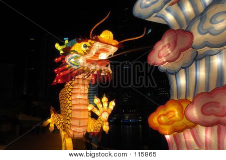 Lantern Festival In Singapore, Dragon