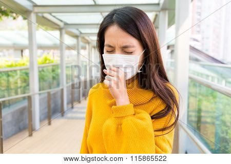 Young Woman cough
