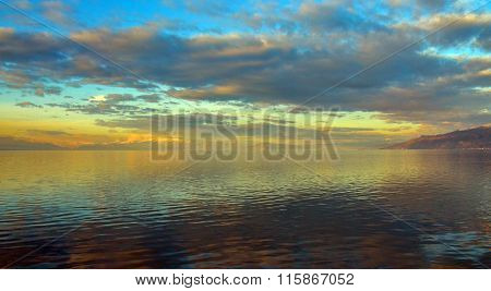 Picture of a Lake Ohrid View from Tushemisht village Albania