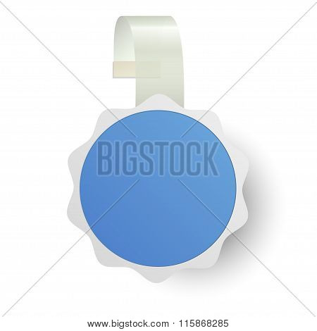 Vector Wobbler With Transparent Strip Isolated On A White Background
