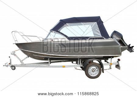 Motor Boat With Awning