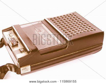 Tape Cassette Recorder Vintage