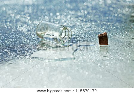 spilt water
