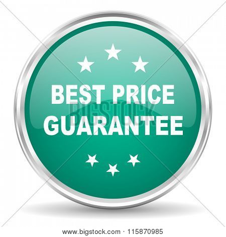 best price guarantee blue glossy circle web icon