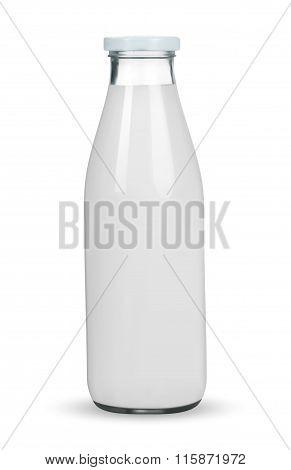 Traditional Glass Milk Bottle. Eps-10