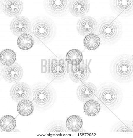Light And Dark Grey Gradient Circles Of Multiple Lines On White Background