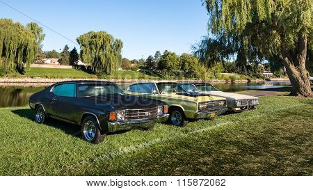 1972 Chevrolet Chevelle, and a 1966 and 1973 Dodge Charger
