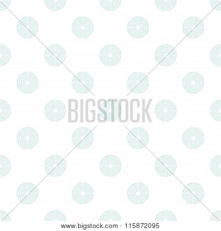 Polka Dot In Mint Circles Of Multiple Lines On White Background