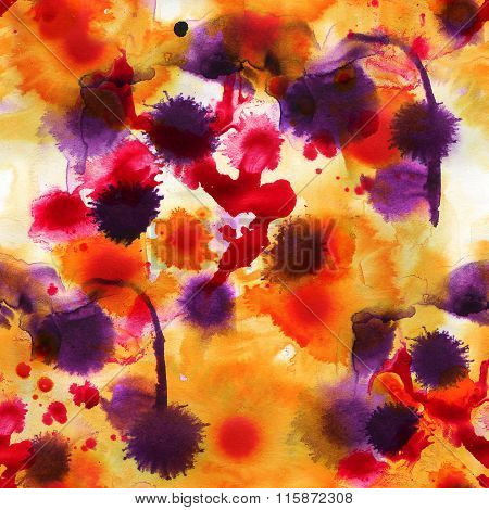 Watercolor abstract illustration. Seamless pattern.