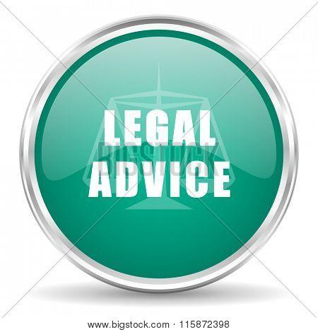 legal advice blue glossy circle web icon