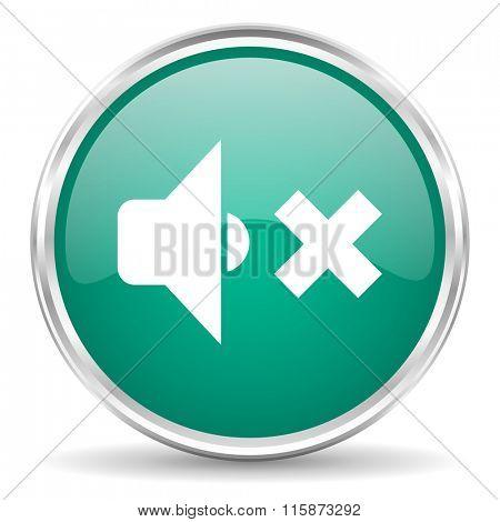 speaker volume blue glossy circle web icon