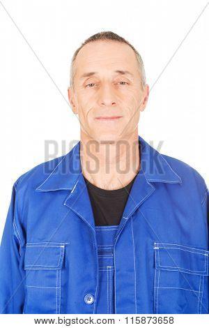 Smiling confident repairman