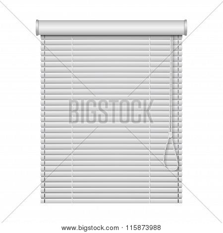 Realistic Home Related Blinds Isolated On White Background