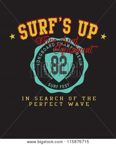 Vector Surf College Print