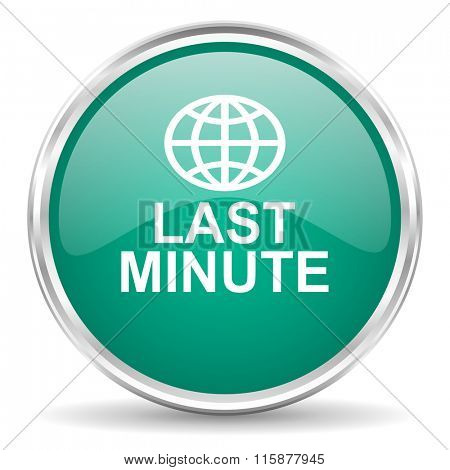 last minute blue glossy circle web icon