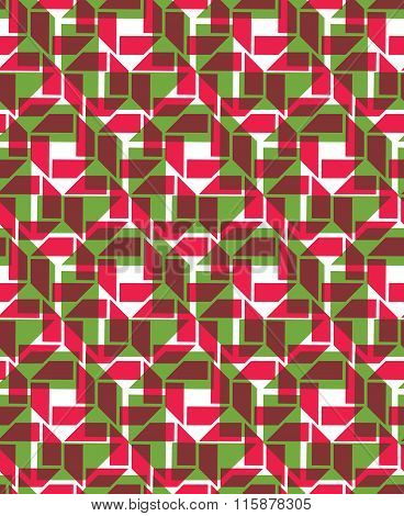 Red Endless Vector Texture With Geometric Overlay Figures, Transparent Motif Abstract