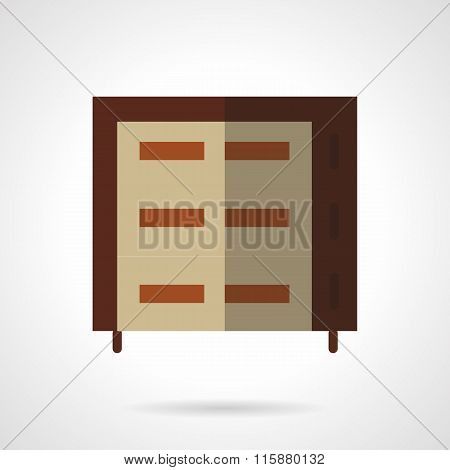 Multilevel brown oven flat vector icon