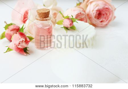 Handmade botanical soap with foam