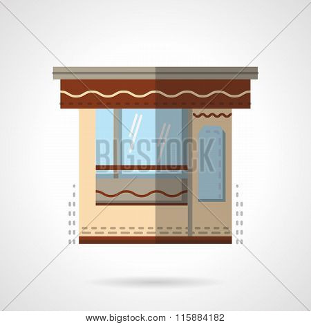 Stall flat color vector icon