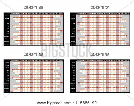 Year Planner Wall Charts