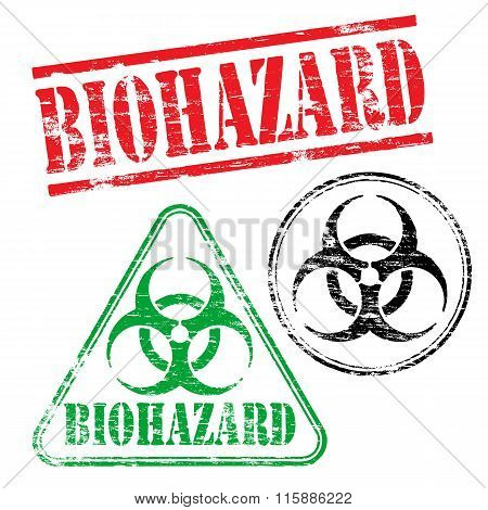 Biohazard Rubber Stamps