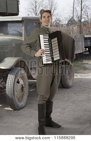 Soviet Soldier Outdoors