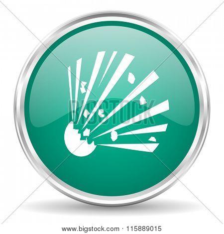 bomb blue glossy circle web icon