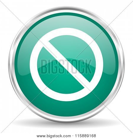 access denied blue glossy circle web icon