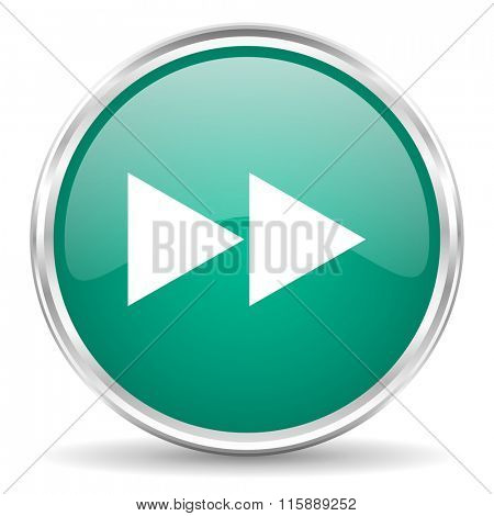 rewind blue glossy circle web icon