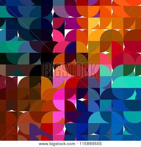 half circles mosaic