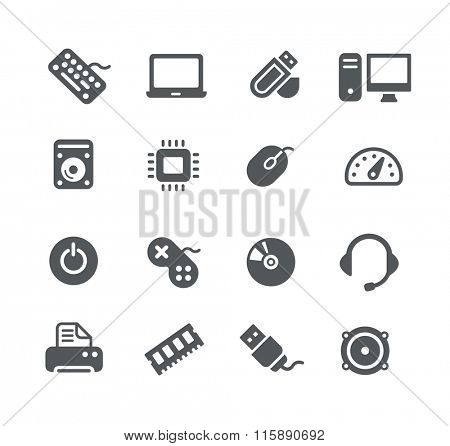 Computer components Icons // Utility Series