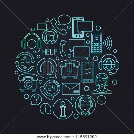 Call center vector illustration
