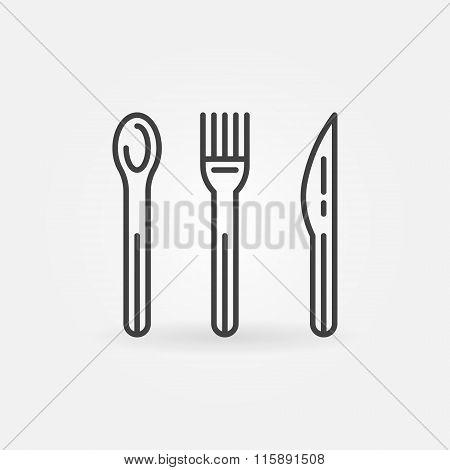 Food line vector icon